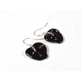 Boucles d'oreilles Filage, noir