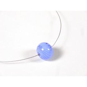 Collier Une perle, bleu hortensia