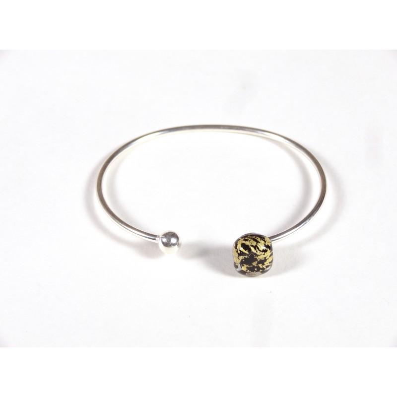 Bracelet Only You, noir feuille d'or