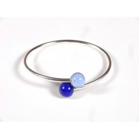 Bracelet Toi et Moi bleu roi et bleu doux