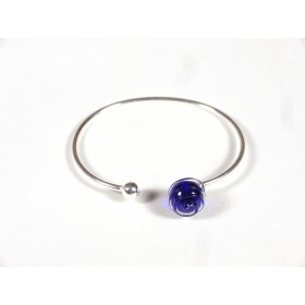 Bracelet Only You, bleu cobalt fil transparent