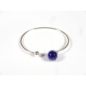Bracelet Only You, bleu cobalt fil transparent