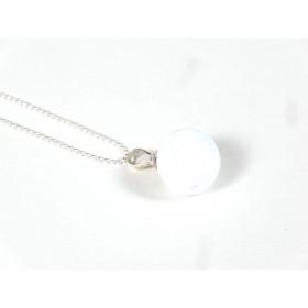 Collier Elégante blanc et transparent